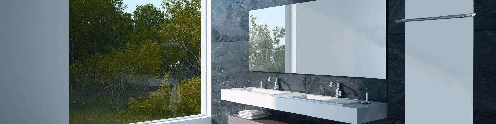 badkamer met infrarood paneel