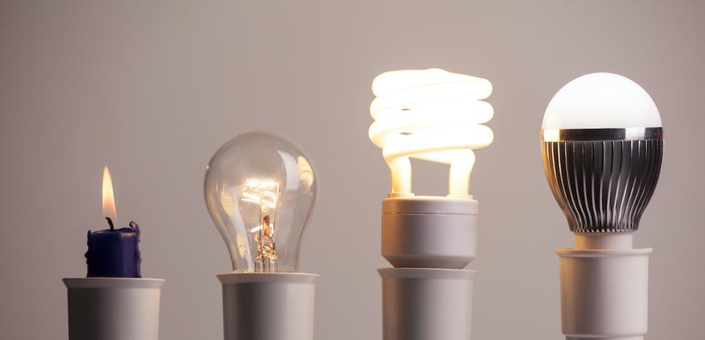 Foto van verschillende vormen van verlichting om ledverlichting voor te kiezen.